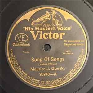 Maurice J. Gunsky - Song Of Songs / Those Songs My Mother Used To Sing Scaricare